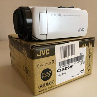 (美品)JVCビデオカメラ GZ-R470-W
