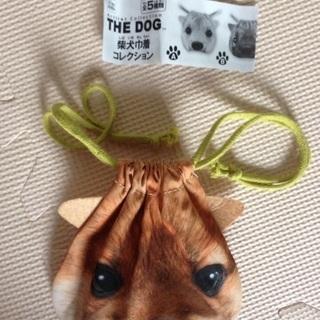 【新品】柴犬 ポーチ 巾着袋 しば犬 THE DOG 柴犬巾着コ...