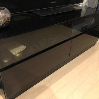 【購入価格:約2万円】収納付テレビボード(ブラック)