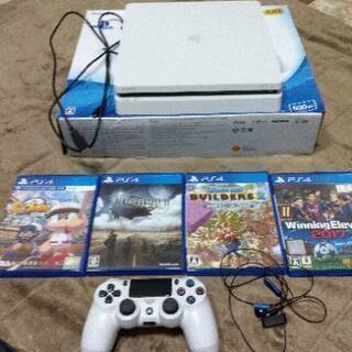 PS4 ホワイト(500G)ゲームセットでどうぞ!