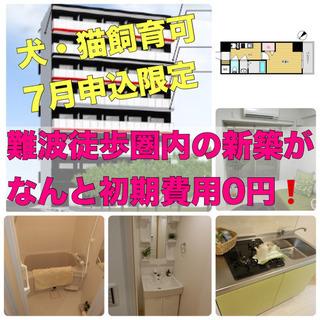 ⭐️新築の初期費用完全0円❗️【難波】⭐️