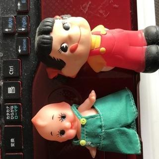 ぺこちゃんとキュピーの人形