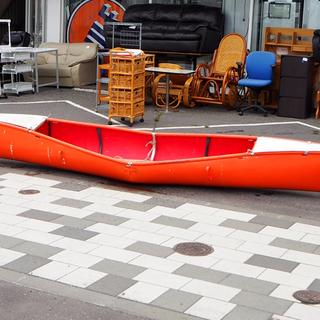 折り畳み カヌー 2人乗り レトロ ヴィンテージ 全長 約4m