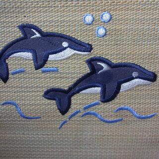 新品未使用 い草 イグサ 5枚セット!イルカのデザイン 夏…