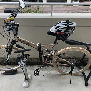 マウンテンバイク、空気入れ、ヘルメットとルームライダー付き!!早...