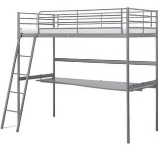 IKEA/イケア SVARTA ロフトベッドフレーム/デスクトッ...