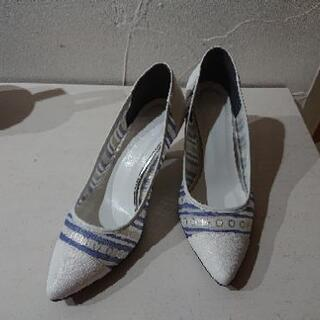 DIANA 靴 パンプス 夏 ブルー