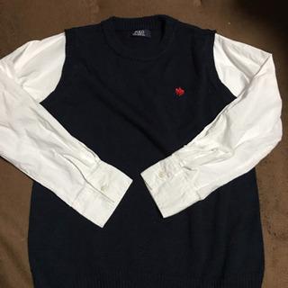 POLO シャツ付きベスト130