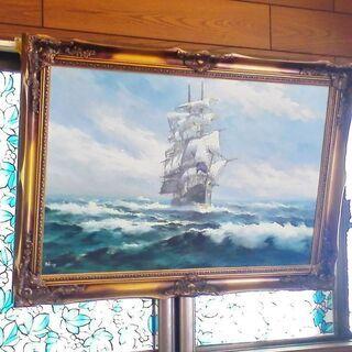 帆船 絵画 油絵 chang