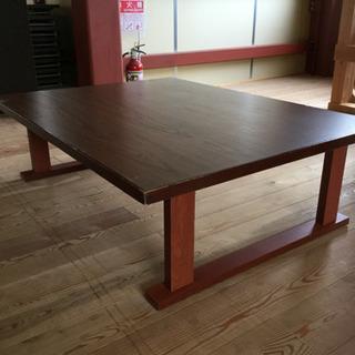 木目調ローテーブル1個