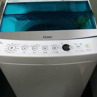 【値下】Haier洗濯機5.5kg ホワイト JW-C55A-W