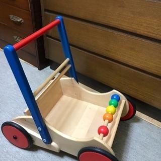 再値下げ‼︎ 木の押し車のおもちゃ