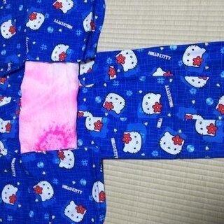 ハローキティ 浴衣 100サイズ 正絹兵児帯付き