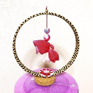 つまみ細工 7月27日 ゆらゆら金魚の輪飾り