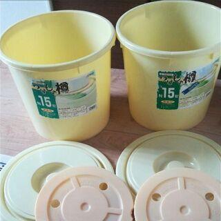 7月15日に処分します。つけもの樽 15型 押し蓋付き 二個セット