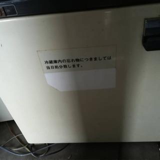 東芝 サイコロ型1ドア冷蔵庫 冷凍ケース付(ビジネスホテルで使用...