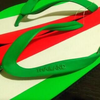 イタリア国旗ビーチサンダル -未使用新品-
