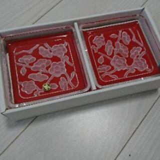 HOYAクリスタル 銘々皿5枚セット