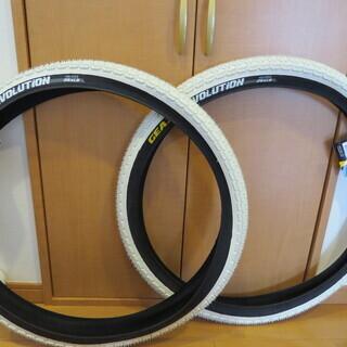 マウンテンバイク用タイヤ GEAX  26インチ×1.9 白
