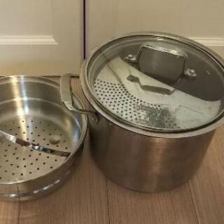 パスタ鍋 蒸し器