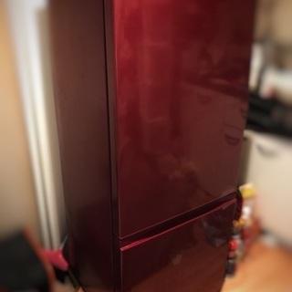 [値下げ][使用一年未満]AQUA2ドア冷蔵庫ルージュ184L・...
