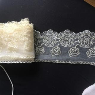 花柄刺繍レースファブリック