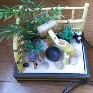 ☆水が流れる涼しげな日本庭園ミニチュア