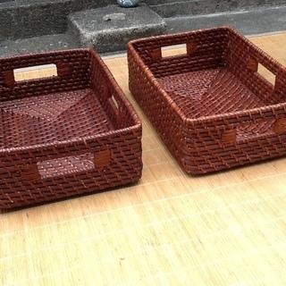 【八百円に】大好き!アジアン家具・雑貨 ラタン・籐のバスケット、...