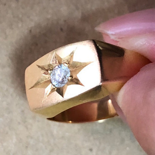 k18 ダイヤ付き ゴールドリング