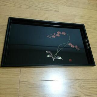 長手盆  塗り  黒  漆器 - 京都市