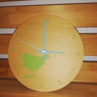 カントリー 小鳥壁掛け時計