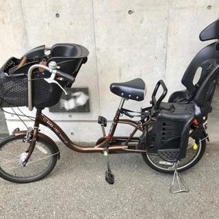 自転車 アサヒ ママフレンドミニ ブラウン 幼児2人前後乗せ
