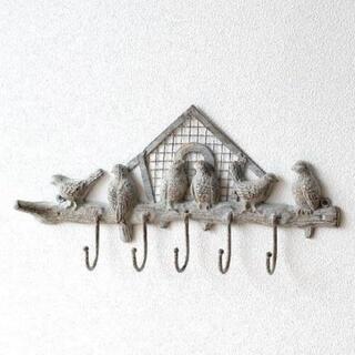 【未使用】鳥 バード 壁掛けフック