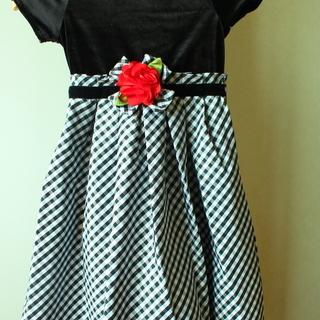 新品 女の子 お出かけドレス 130cm