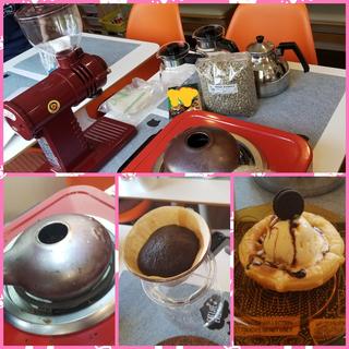 夏休みの自由研究に! コーヒーについて学ぼう&焙煎体験講座 手軽に焙煎できる「いりたて名人」を使って自分で焙煎した新鮮で美味しいコーヒーを一緒に飲んでみませんか?(⌒∇⌒)の画像