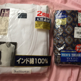 ★新品メンズ シャツ2枚 トランクス3枚 LLサイズ