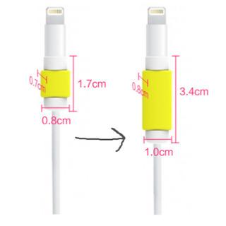断線防止!ロング版~可愛いiPhone充電ケーブル保護カバー キャップ