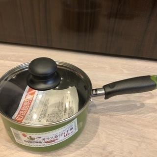ガラス蓋つき片手鍋