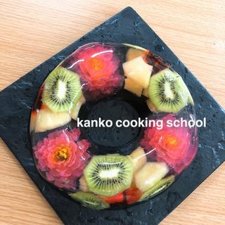 kanko  cooking school フラワーゼリー