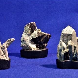 卓上モリオン5個 黒水晶 鑑賞石 鉱物標本 盆景 盆石