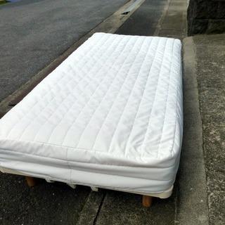 価格変更しました。無印良品 シングルベッド・マットレス(中古)