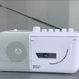 美品!ラジカセ 18年製 FMワイド対応◇モノラル WIN…