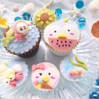 夏休み!親子で!お友達と!お手軽可愛いデコカップケーキを作ろう♪