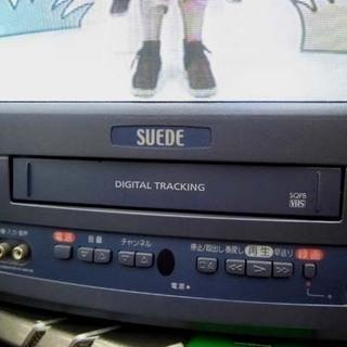 札幌 リモコンなし 動作OK テレビデオ ビデオデッキ ブラウン管TV テレビ 14型 フナイ電機 2004年製 - 家電