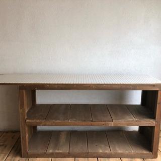値下げ 早い者勝ち 棚 作業台 キッチン レトロ アンティーク 古道具