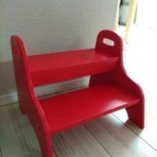 (引き渡し予定者決定)IKEA ステップ 踏み台 赤 レッド