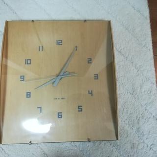 壁掛け時計【イデア ウッドガラスクロック グランデ 】
