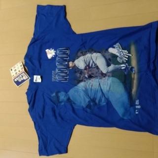 野茂英雄 新品タグ付き ロサンゼルスドジャース Tシャツ Lサイズ