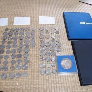 記念硬貨など 大量まとめて約94枚 額面約36300円 フォルダ...