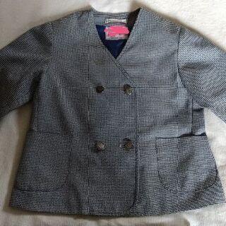 保育園の制服(青黒千鳥)